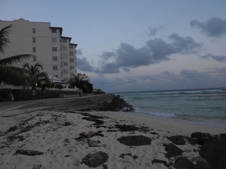 boardwalk barbados, caribbbean sea