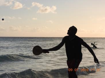 Paddle Tennis on Barbados Beach